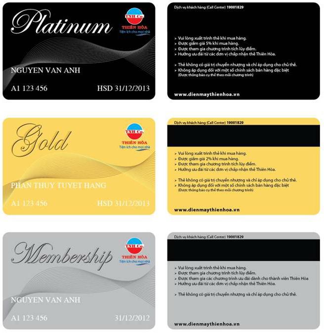 Thẻ thành viên dùng để mua hàng